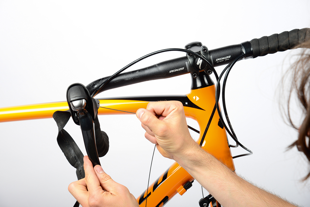 Cutting grip shifter cable