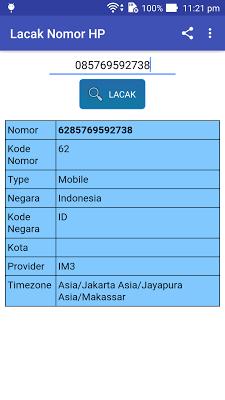 Lacak Nomor HP - screenshot