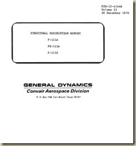F-111A_E_FB-111A Structural Description Report