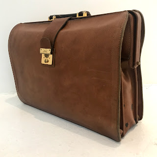 Longchamp Vintage Leather Briefcase