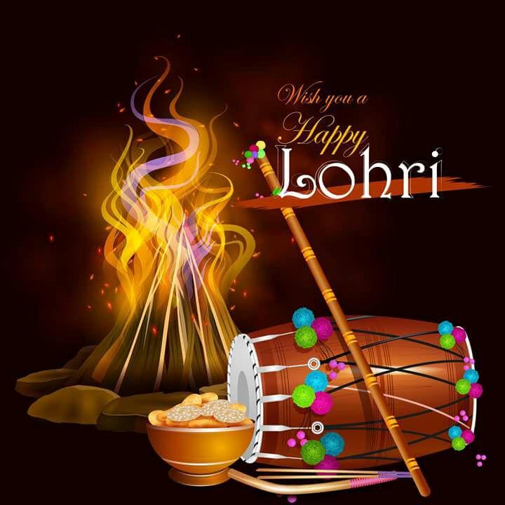 Happy Lohri Wishes Pics in Punjabi - Whatsapp Images