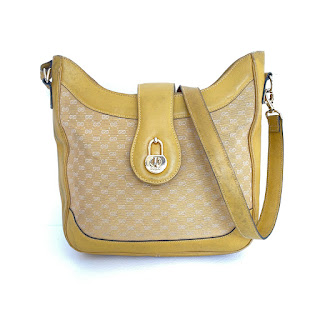 Vintage Gucci Monogram Yellow Bag