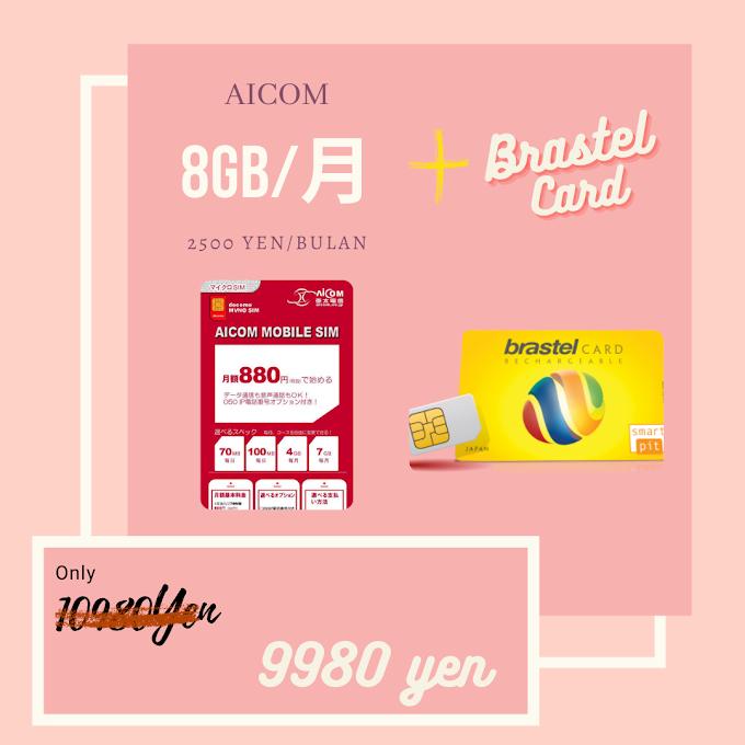 AICOM 8GB + KARTU TELEPON BRASTEL
