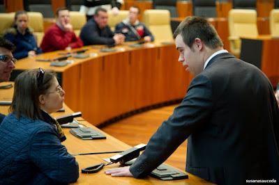 Visita a la asamblea de Extremadura