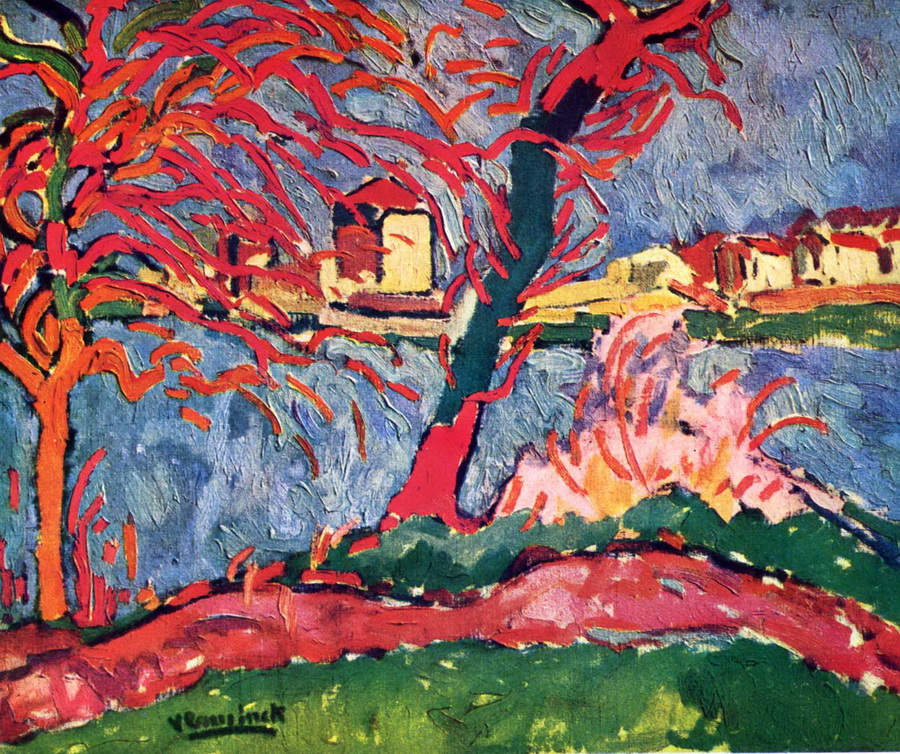 Maurice de Vlaminck - River Edge Of The Seine