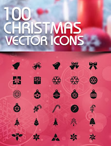 Free Download: 100 Christmas Vector Icons