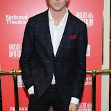 WWW.ENTSIMAGES.COM -   Luke Newberry   arriving  at     Great Britain - press night at Theatre Royal Haymarket, London September 26th 2014West End Opening at Theatre Royal Haymarket for Richard Bean's GREAT BRITAIN -  Play about an ambitious tabloid editor in production described as anarchic satire about the press, the police and the political establishment.                                                    Photo Mobis Photos/OIC 0203 174 1069