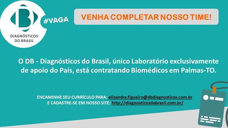 DIVULGAÇÃO VAGAS DB - PALMAS - TO