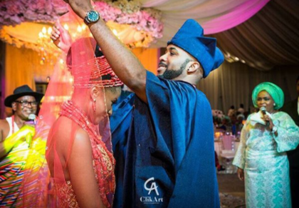 #BAAD2017: Banky W unveils his bride, Adesua Etomi at their traditional wedding, more photos