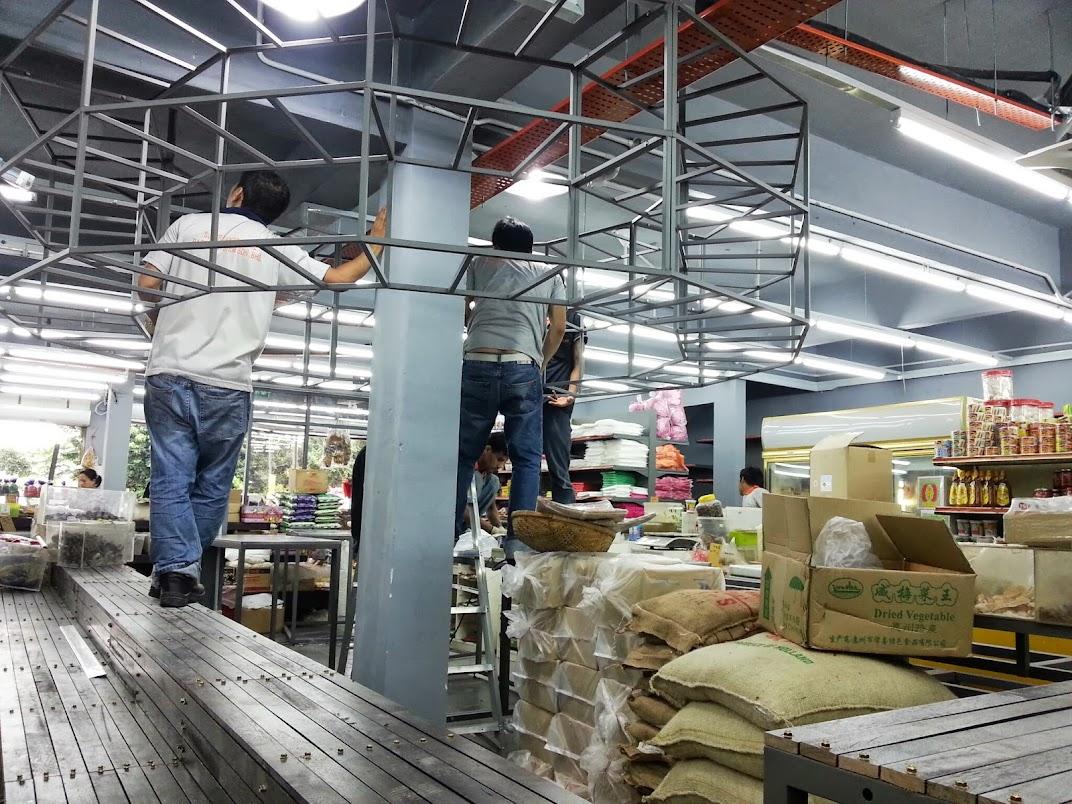 install hung rack
