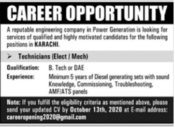 Reputable Engineering Company Jobs September 2020