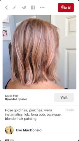 An Organised Scatterbrain Rose Gold Hair