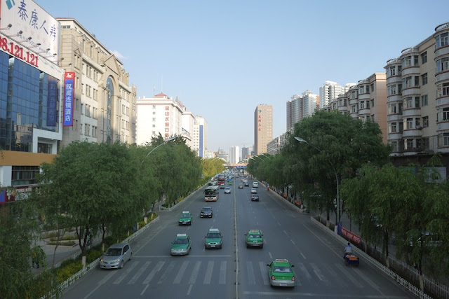 Shengli Road in Xining, Qinghai