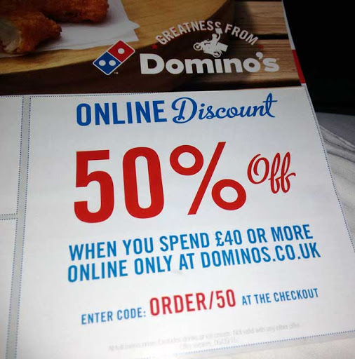 The quickest way to search the nearest Dominos UK is to enter your postcode online. Dominos UK will quickly find your local store for delivery or pick up. Popular expired vouchers for Dominos UK.