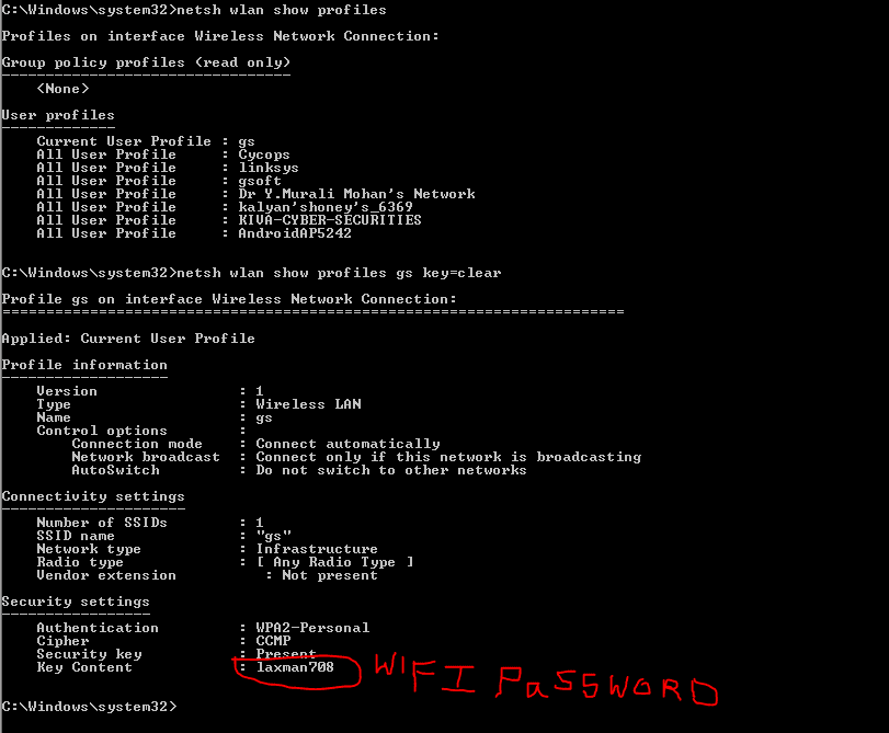 Simple tricks to Hack a Wi-Fi Password using CMD - SPICE