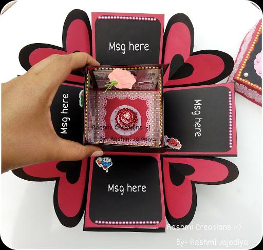 Rashmi Creations Explosion Box Card