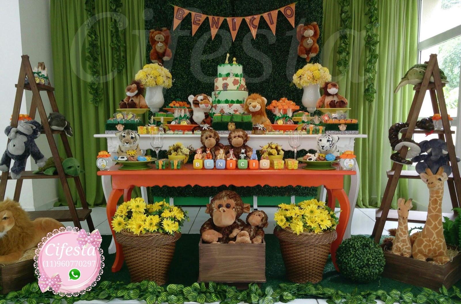 Cifesta Decoraç u00e3o Infantil Decoraç u00e3o Safari -> Decoração Festa Infantil Zoologico