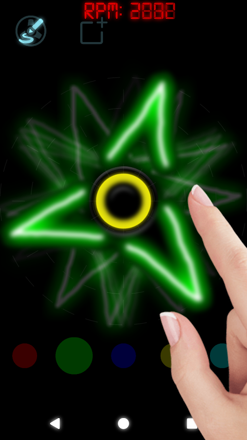 Draw and Spin (Fidget Spinner)- screenshot