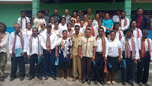 Pelantikan Rt/Rw Desa Kaleb || Mahasiswa KKL STKIP Muhammadiyah Kalabahi Ikut Terlibat.