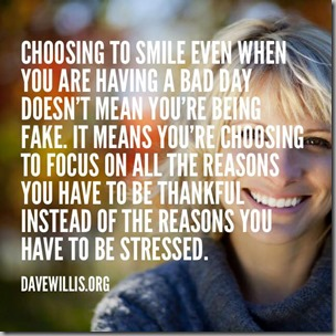 choosing to smile