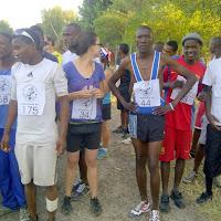 The winner before the start of the Okavango Half Marathon