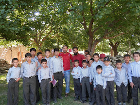 Our cricket team in Jutal, Gilgit