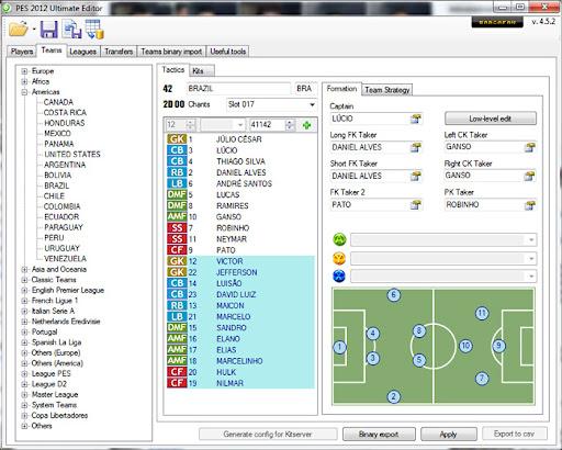 Ultimate Editor v4.5.2 - PES 2012