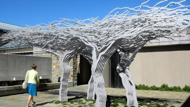Art at one of the Stellenbosche vineyards