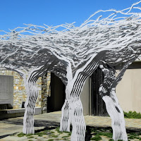 Art at one of the Stellenbosche vineyards