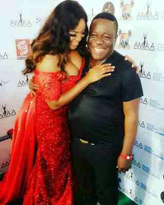 Funke Adesiyan And Mr Ibu At AMAA Award
