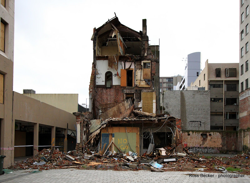 Photo: Remains of 51-53 Cathedral Square.