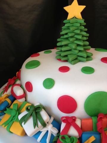 Los placeres de la vida pastel decorado con regalos for Decoracion christmas navidenos