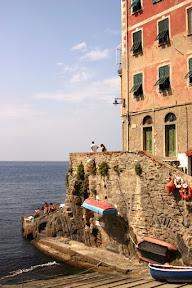 Boat launch in Riomaggiore