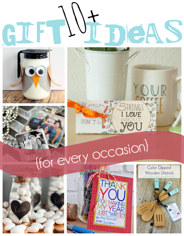 10  Gift Ideas for Every Occasion at GingerSnapCrafts.com #giftideas #gingersnapcrafts