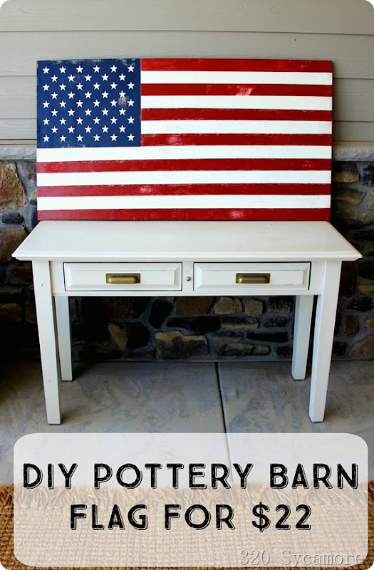 diy pottery barn american flag for summer