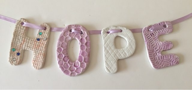 sooz in the shed air dry clay name bunting