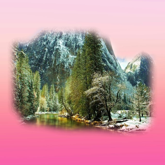 montagna e laghetto