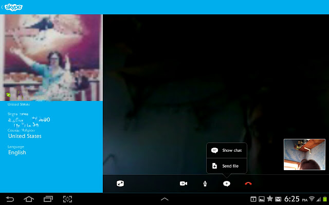 Skype chat Samsung Galaxy TAB 2 10.1   Makes a Great Remote Control as well as a Cool Tablet