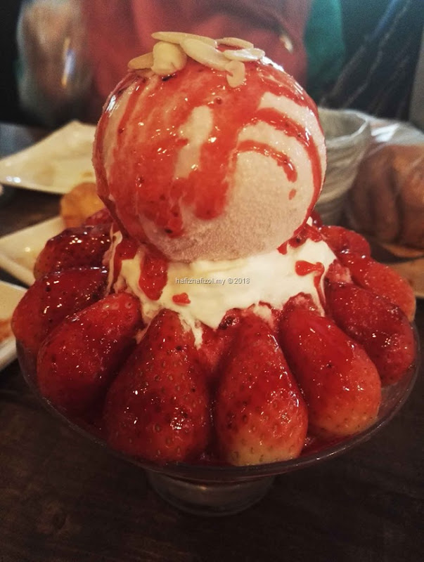 KFRY MENU Strawberry Cheesecake Bingsoo