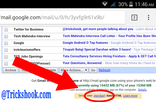 Gmail Basic HTML View To Standard View