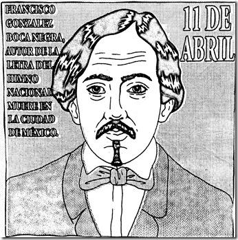 Francisco González Bocanegra para colorear | Autor del Himno Nacional para colorear
