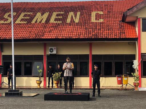 Personel Yon C Pelopor Sat Brimob Polda Sulsel di BKOkan ke Polda Metro Jaya, Ini Pesan Kapolres Bone