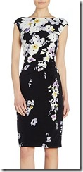 Lauren Ralph Lauren floral print cap sleeved dress