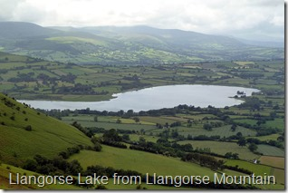Llangorse lake from llangorse mountain