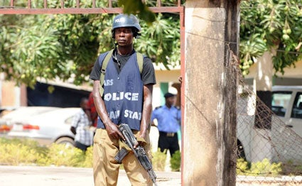Nigerian Police in Lagos. PHOTO | AFP