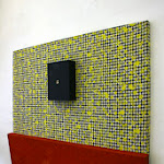 UNEXPECTED VISITOR (163x180x16 cm) 113x180 cm textile   50x180 cm fibreboard, acryl 40x30x10 cm fibreboard box  peephole and photo.jpg