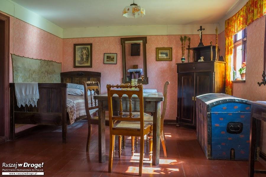 Muzeum Wsi Słowińskiej - wnętrza chat