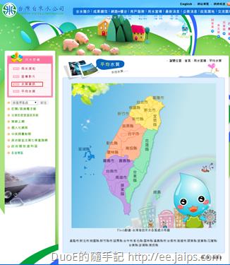 台灣自來水公司平均水質