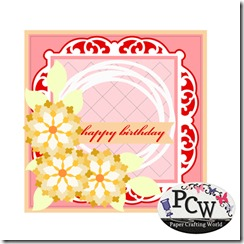 pcw birthday floral card 316-450