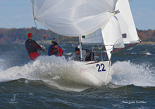 J/24 Worlds- Argentina, Buenos Aires- sailing fast downwind